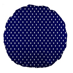 Rainbow Polka Dot Borders Colorful Resolution Wallpaper Blue Star Large 18  Premium Round Cushions by Mariart