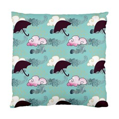 Rain Clouds Umbrella Blue Sky Pink Standard Cushion Case (one Side) by Mariart