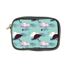 Rain Clouds Umbrella Blue Sky Pink Coin Purse by Mariart