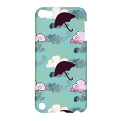 Rain Clouds Umbrella Blue Sky Pink Apple Ipod Touch 5 Hardshell Case by Mariart