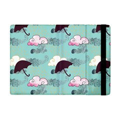Rain Clouds Umbrella Blue Sky Pink Apple Ipad Mini Flip Case by Mariart