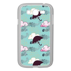 Rain Clouds Umbrella Blue Sky Pink Samsung Galaxy Grand Duos I9082 Case (white) by Mariart