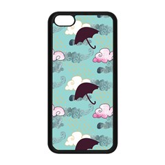 Rain Clouds Umbrella Blue Sky Pink Apple Iphone 5c Seamless Case (black) by Mariart
