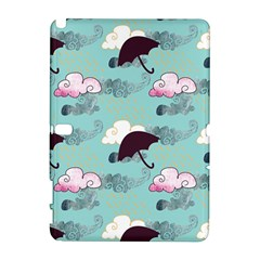Rain Clouds Umbrella Blue Sky Pink Galaxy Note 1 by Mariart