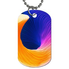 Wave Waves Chefron Color Blue Pink Orange White Red Purple Dog Tag (two Sides) by Mariart