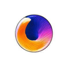 Wave Waves Chefron Color Blue Pink Orange White Red Purple Hat Clip Ball Marker by Mariart