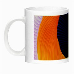Wave Waves Chefron Color Blue Pink Orange White Red Purple Night Luminous Mugs by Mariart