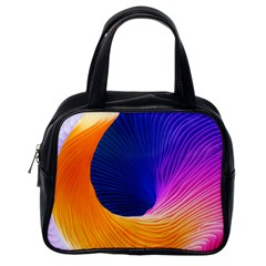 Wave Waves Chefron Color Blue Pink Orange White Red Purple Classic Handbags (one Side) by Mariart