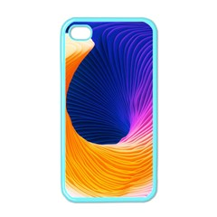 Wave Waves Chefron Color Blue Pink Orange White Red Purple Apple Iphone 4 Case (color)