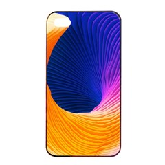 Wave Waves Chefron Color Blue Pink Orange White Red Purple Apple Iphone 4/4s Seamless Case (black) by Mariart