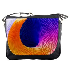 Wave Waves Chefron Color Blue Pink Orange White Red Purple Messenger Bags by Mariart