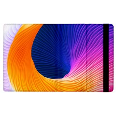 Wave Waves Chefron Color Blue Pink Orange White Red Purple Apple Ipad 2 Flip Case by Mariart