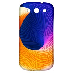 Wave Waves Chefron Color Blue Pink Orange White Red Purple Samsung Galaxy S3 S Iii Classic Hardshell Back Case by Mariart