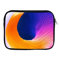 Wave Waves Chefron Color Blue Pink Orange White Red Purple Apple Ipad 2/3/4 Zipper Cases by Mariart
