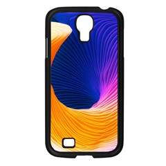 Wave Waves Chefron Color Blue Pink Orange White Red Purple Samsung Galaxy S4 I9500/ I9505 Case (black) by Mariart