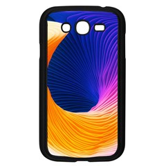 Wave Waves Chefron Color Blue Pink Orange White Red Purple Samsung Galaxy Grand Duos I9082 Case (black) by Mariart