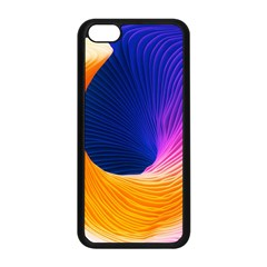 Wave Waves Chefron Color Blue Pink Orange White Red Purple Apple Iphone 5c Seamless Case (black) by Mariart