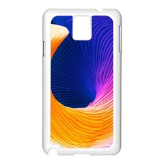 Wave Waves Chefron Color Blue Pink Orange White Red Purple Samsung Galaxy Note 3 N9005 Case (white) by Mariart