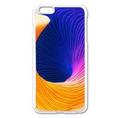 Wave Waves Chefron Color Blue Pink Orange White Red Purple Apple Iphone 6 Plus/6s Plus Enamel White Case by Mariart