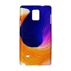 Wave Waves Chefron Color Blue Pink Orange White Red Purple Samsung Galaxy Note 4 Hardshell Case