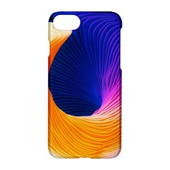 Wave Waves Chefron Color Blue Pink Orange White Red Purple Apple Iphone 7 Hardshell Case