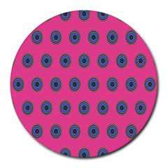Polka Dot Circle Pink Purple Green Round Mousepads by Mariart