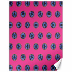 Polka Dot Circle Pink Purple Green Canvas 18  X 24   by Mariart