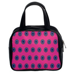 Polka Dot Circle Pink Purple Green Classic Handbags (2 Sides) by Mariart