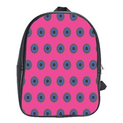 Polka Dot Circle Pink Purple Green School Bags(large)  by Mariart