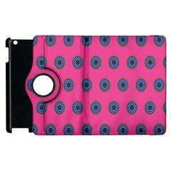Polka Dot Circle Pink Purple Green Apple Ipad 3/4 Flip 360 Case by Mariart