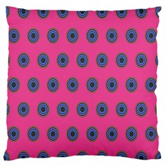 Polka Dot Circle Pink Purple Green Standard Flano Cushion Case (one Side) by Mariart