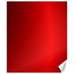 Red Gradient Fractal Backgroun Canvas 20  X 24   by Simbadda