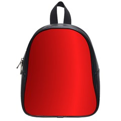 Red Gradient Fractal Backgroun School Bags (small)  by Simbadda