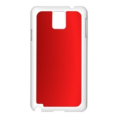 Red Gradient Fractal Backgroun Samsung Galaxy Note 3 N9005 Case (white) by Simbadda