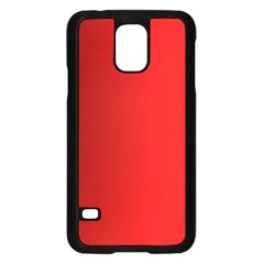 Red Gradient Fractal Backgroun Samsung Galaxy S5 Case (black) by Simbadda