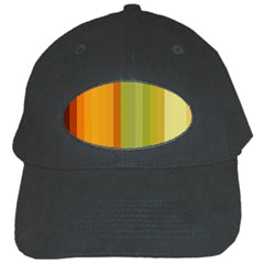 Colorful Citrus Colors Striped Background Wallpaper Black Cap by Simbadda