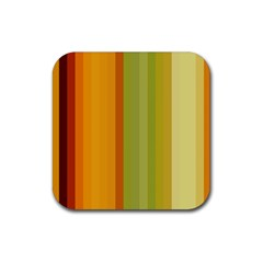 Colorful Citrus Colors Striped Background Wallpaper Rubber Square Coaster (4 Pack)  by Simbadda