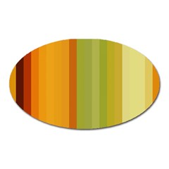 Colorful Citrus Colors Striped Background Wallpaper Oval Magnet by Simbadda