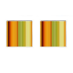 Colorful Citrus Colors Striped Background Wallpaper Cufflinks (square)