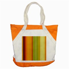 Colorful Citrus Colors Striped Background Wallpaper Accent Tote Bag by Simbadda