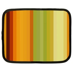Colorful Citrus Colors Striped Background Wallpaper Netbook Case (xl)  by Simbadda