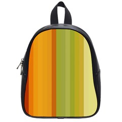 Colorful Citrus Colors Striped Background Wallpaper School Bags (small)  by Simbadda