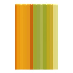 Colorful Citrus Colors Striped Background Wallpaper Shower Curtain 48  X 72  (small)  by Simbadda