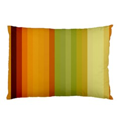 Colorful Citrus Colors Striped Background Wallpaper Pillow Case (two Sides)