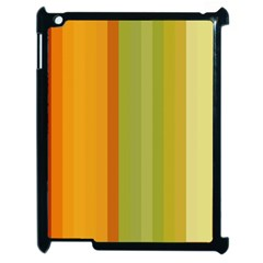 Colorful Citrus Colors Striped Background Wallpaper Apple Ipad 2 Case (black) by Simbadda