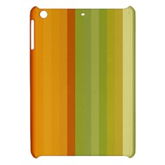 Colorful Citrus Colors Striped Background Wallpaper Apple Ipad Mini Hardshell Case by Simbadda