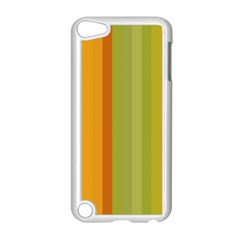 Colorful Citrus Colors Striped Background Wallpaper Apple Ipod Touch 5 Case (white) by Simbadda