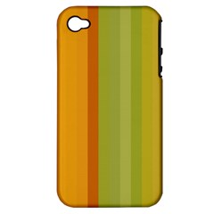 Colorful Citrus Colors Striped Background Wallpaper Apple Iphone 4/4s Hardshell Case (pc+silicone) by Simbadda