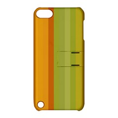 Colorful Citrus Colors Striped Background Wallpaper Apple Ipod Touch 5 Hardshell Case With Stand by Simbadda