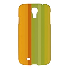 Colorful Citrus Colors Striped Background Wallpaper Samsung Galaxy S4 I9500/i9505 Hardshell Case by Simbadda